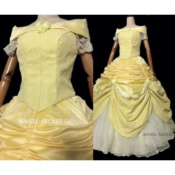 P106V COSPLAY beauty and beast princess belle Costume tailor bodice only.