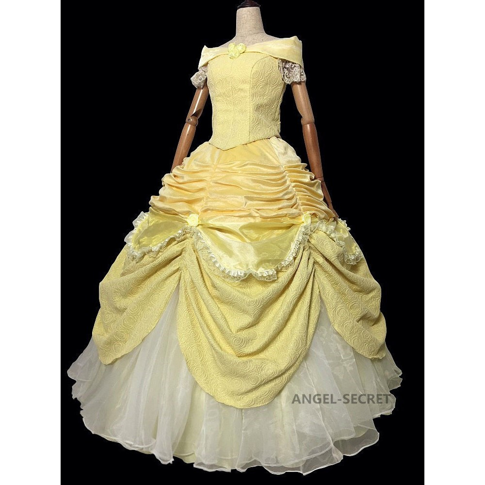a5100bfaa1 P106 COSPLAY beauty and beast princess belle Costume tailor made puffy  version