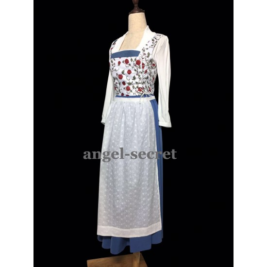 P115 COSPLAY beauty and beast princess belle Costume tailor made 2017 version