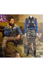 A020 Marvel Black Panther Erik Killmonger cosplay costumes