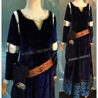 B160 Merida gown brave Movies Cosplay Costume dress brave 2012
