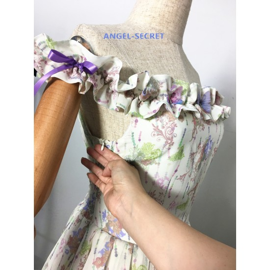 BM32 Giselle disneybound  chiffon dress  off shoulder Enchanted 2007