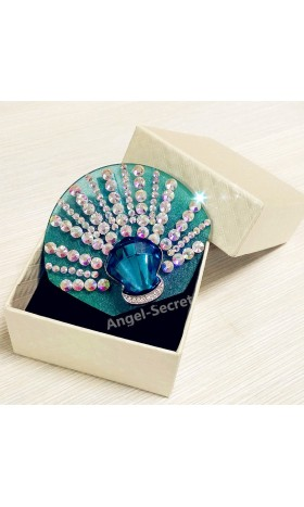 BR03 COSPLAY Princess NEW CRYSTAL LITTLE MERMAID ARIEL PARK STYLE BROOCH