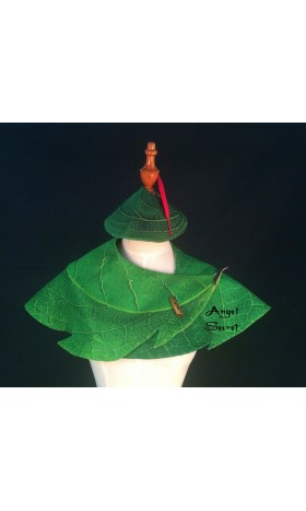 CH3 tinkerbell cape and hat with red feather