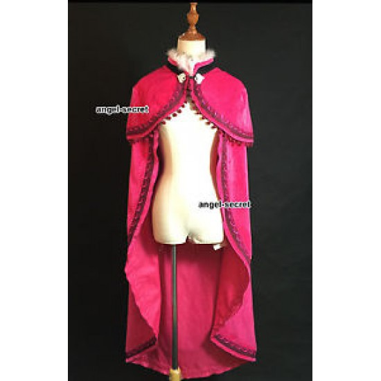 CL20 Anna cloak only with pink fur Costume make Adult Kids size cape