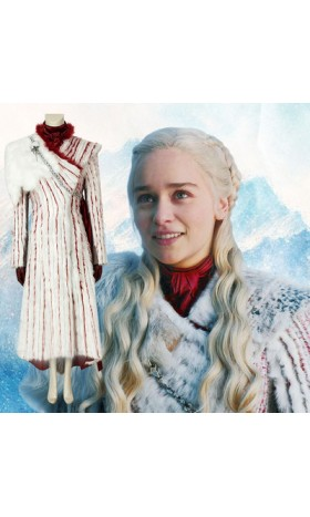 GT009 Game of Thrones season8 cosplay DAENERYS STORMBORN DANY KHALEESI MHYSA THE SILVER QUEEN SILVER LADY DRAGONMOTHER THE DRAGON QUEEN costumes