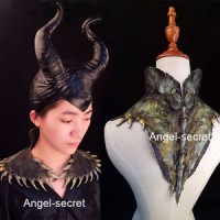 HAT4 Maleficent adult hat or collar