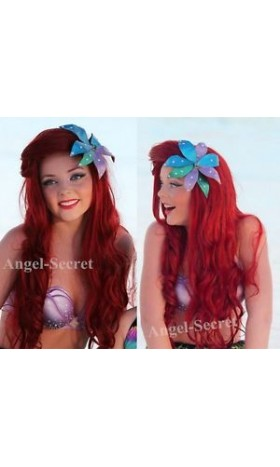 HP50 mermaid Ariel Cosplay Costume flower for wig only disneyland face character
