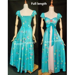 J230 women curtain dress Giselle cosplay from Enchanted TEAL PRINCESS
