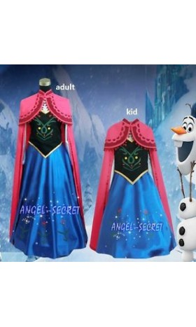 J705 ANNA Cosplay Costume Dress