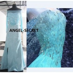 J717  ELSA Cosplay Costume Dress