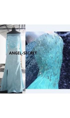 J717  ELSA Cosplay Costume Dress