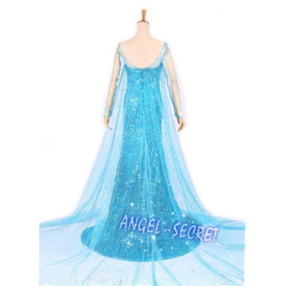 J722 Elsa Cosplay Costume. Click Image for Gallery  sc 1 st  angel-secret & J722 Frozen Snow Queen Elsa Cosplay Costume Deluxe Dress ...