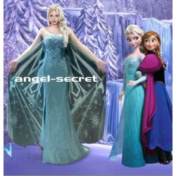 J737WC  FrozenElsa Cosplay Costume without cape