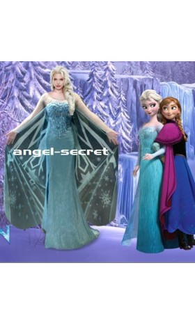 J737 FrozenElsa Cosplay Costume