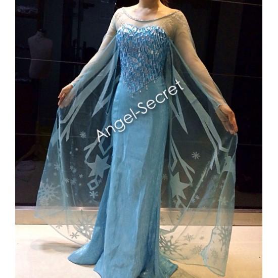 J737 FrozenElsa Cosplay Costume
