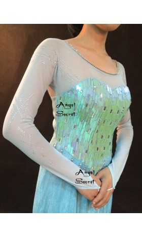J789C  Elsa Cosplay Costume iridescent with sleeves only.