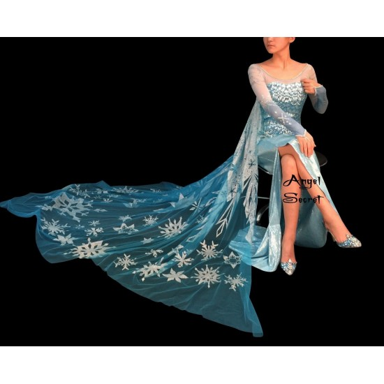 J888CS  Elsa Cosplay Costume corset with sleeve only