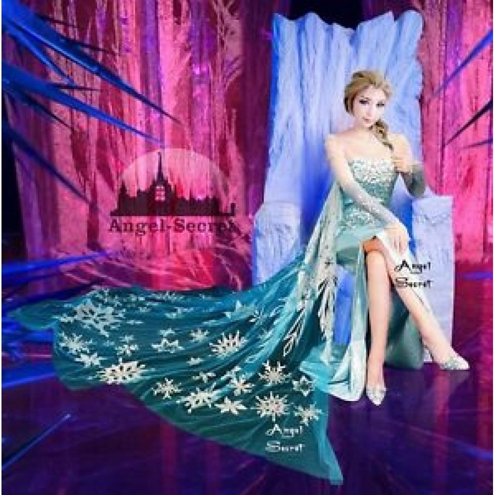 97f5081685 J888CS Movies Frozen Snow Queen Elsa Cosplay Costume top ...