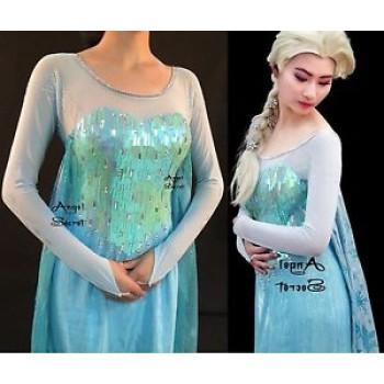 J889 Frozen Elsa Cosplay Costume