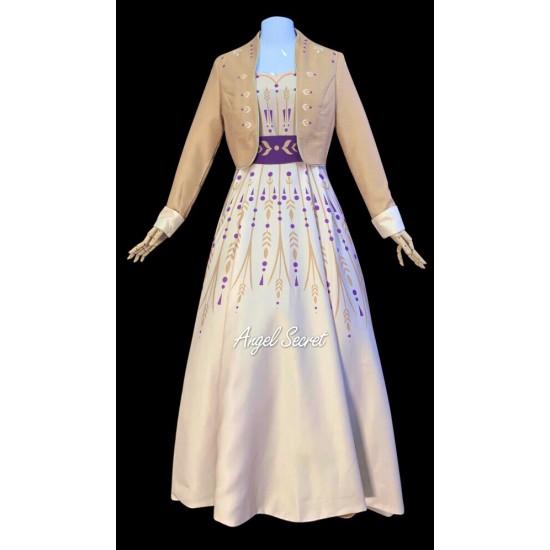 J900 Frozen2 Anna cosplay gown costume