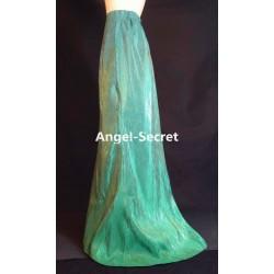 L90 FROZEN FEVER Elsa skirt only of J929 gradient green sparkle fabric fully lined