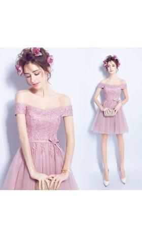LS11 women Rapunzel pink gown inspired disneybound evening off shoulder bridal