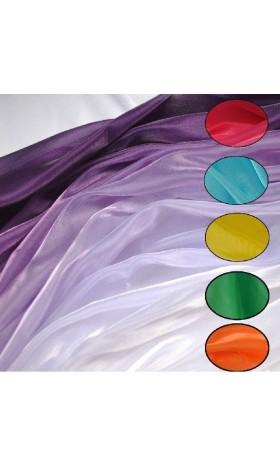 MAT15 sea blue purple Iridescent Crystal Organza Fabric