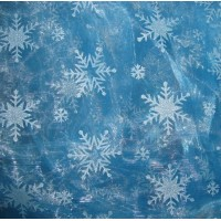 MAT2  Elsa Snowflake Fabric ( mini SNOW,Glitter not flakeoff)