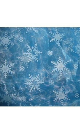 MAT2  Elsa Snowflake Fabric ( mini SNOW,Glitter not flakeoff)