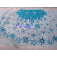 MAT29  Elsa blue mesh fabric