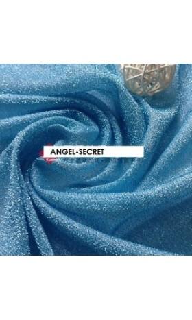 MAT4  Elsa silver blue viscose Fabric 110CM Wide spandex(pale blue)