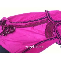 MAT48  Anna cape cloak burgundy pink 4 meter long DIY craft