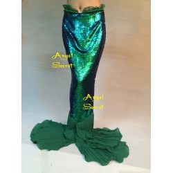 MAT49 iridescent Green mesh Fabric
