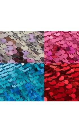MAT6 Frozen Elsa 9mm Sequins Fabric