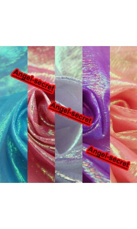 "MAT61 47"" Wide Luxury iridescent Crystal Organza DIY Fabric BY Meter"