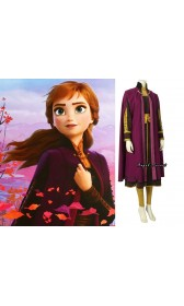N91 Movies Frozen2 princess ANNA Cosplay Costume Dress tailor made