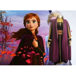N92 Movies Frozen2 princess ANNA Cosplay Costume Dress tailor made
