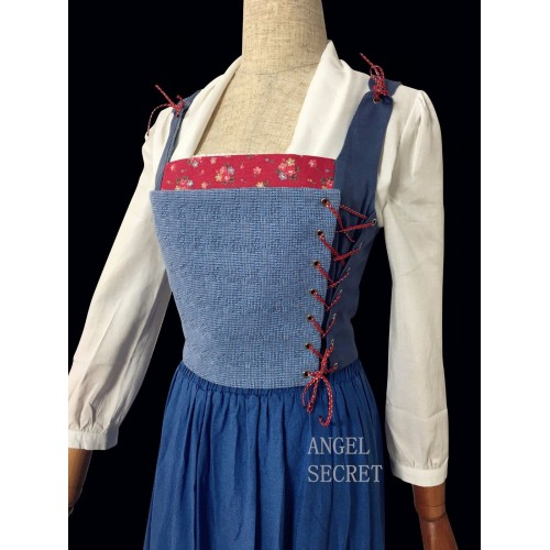 C110 COSPLAY beauty and beast princess belle  tailor made 2017 version Corset only