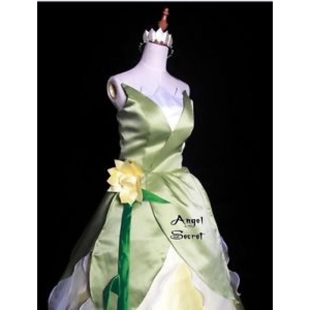 P123 COSPLAY Dress Princess and Frog Tiana Costume tailor ...