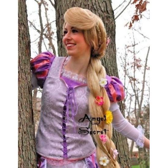 P128 Rapunzel Cosplay Costume