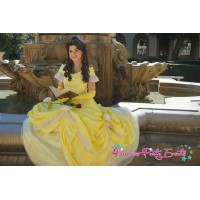 P132 COSPLAY beauty and beast princess belle Costume tailor made kid adult GOWN