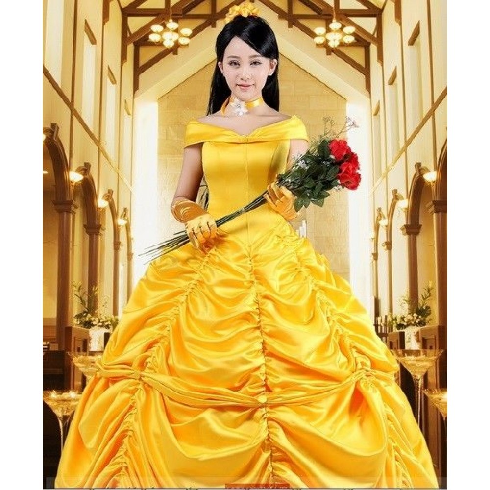 P133 COSPLAY beauty and beast princess belle Costume tailor ...