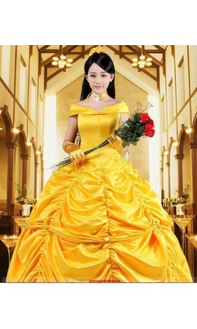 P133  beauty and beast princess belle Costume