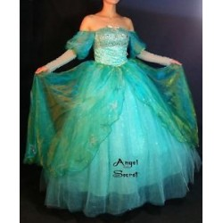 P142  Little Mermaid Aqua Custom gown Ariel