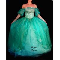 P142  Little Mermaid Aqua Custom gown Ariel