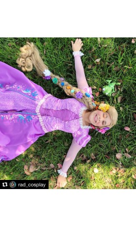 P144 Tangled Rapunzel Cosplay Costume women Princess dress cosplay