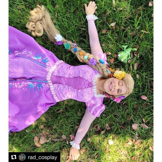 P144 Tangled Rapunzel Cosplay Costume women Princess dress cosplay