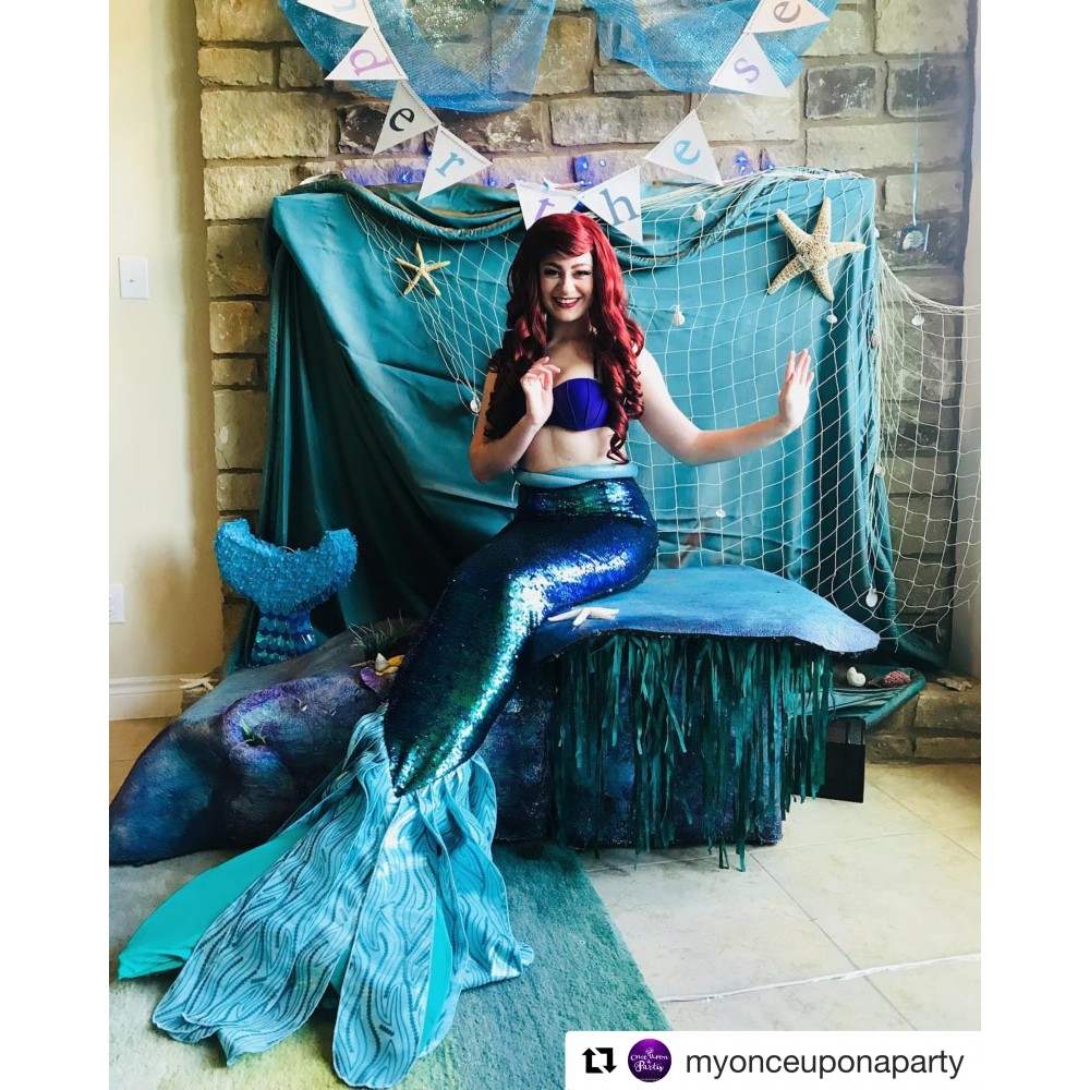P149 Green sequins Mermaid Skirt Fish Ariel tail Costume swimable park version  sc 1 st  angel-secret & P149 Green sequins Mermaid Skirt Fish Ariel tail Costume ...