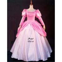 P185 Movies Cosplay Costume movie pink Ariel princess dress with pearls